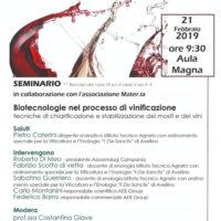 Seminario sulle Biotecnologie nel Processo di Vinificazione all'Istituto Agrario De Sanctis