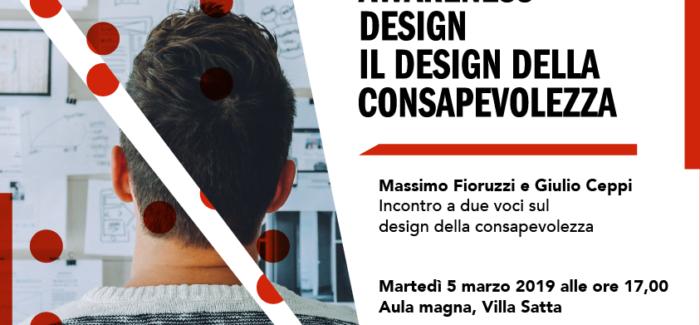 """Open lesson allo IED Cagliari con Giulio Ceppi e Massimo Fioruzzi sul """"Design della consapevolezza"""""""