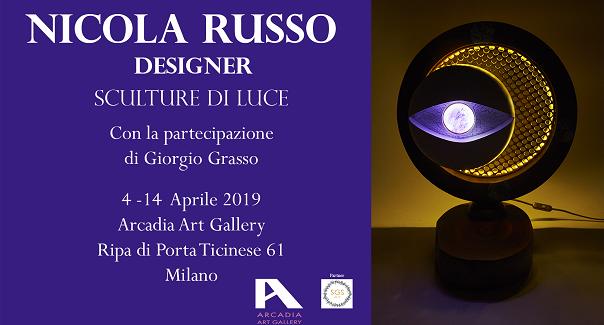 """All'Arcadia Art Gallery di Milano, la mostra """"Sculture di Luce"""" di Nicola Russo"""