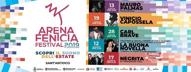 Al via sabato 13 luglio l'Arena Fenicia Festival, con Vinicio Capossela, Mauro Palmas, Antonella Ruggiero…