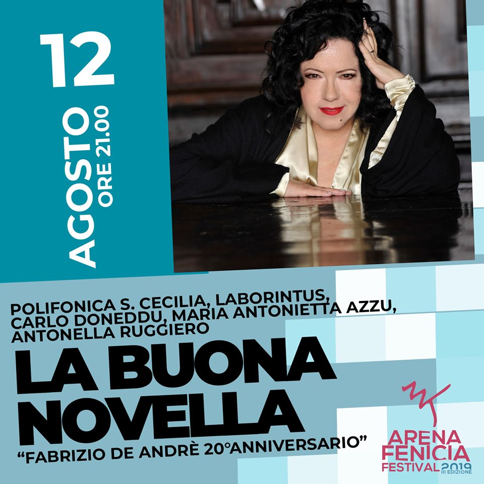 Arena Fenicia Festival il tributo a Fabrizio De Andre di Antonella Ruggiero