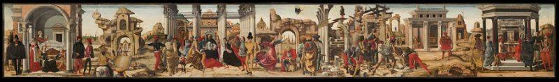 Storie di San Vincenzo Ferrer_Ercole de' Roberti_ Pinacoteca Vaticana,Roma
