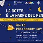Sassari accoglie l'iniziativa dell'Unesco che celebra il 21 novembre la Giornata Mondiale della Filosofia