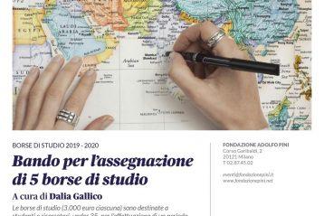 Locandina_borse di studio_2019-2020_Fondazione Adolfo Pini