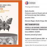 """Giulio Giorello presenta a Cagliari il libro di Giovanni Biggio, Danilo Sirigu e Silvano Tagliagambe """"Metamorfosi"""""""