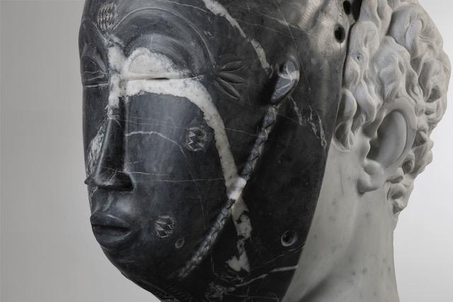 Massimiliano Pelletti scultura marmo bianco e nero