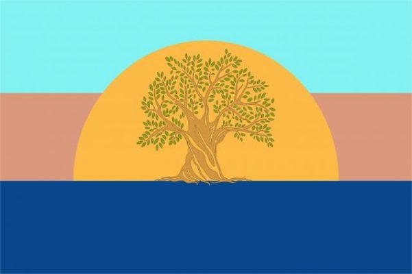La bandiera del Mediterraneo. Mediterranean Flag. Un'idea di Simone Perotti creatore del Progetto Mediterranea